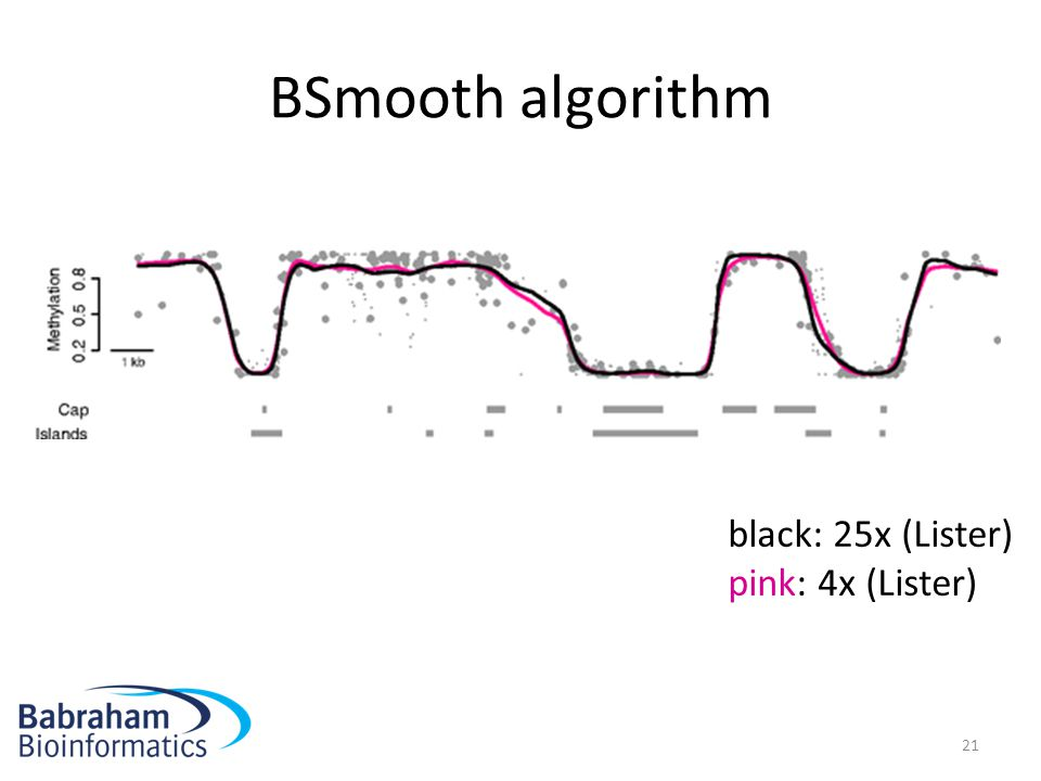 BSmooth algorithm black: 25x (Lister) pink: 4x (Lister)