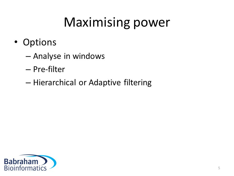 Maximising power Options Analyse in windows Pre-filter