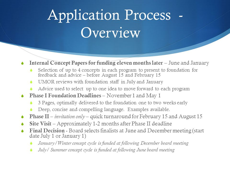 Application Process - Overview