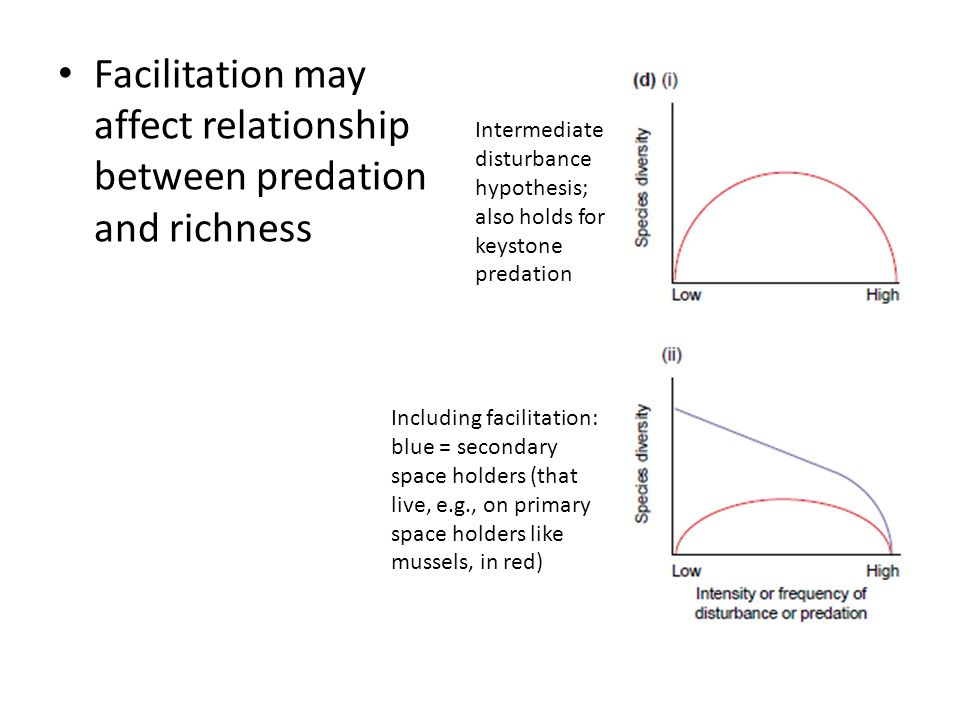 Facilitation may affect relationship between predation and richness