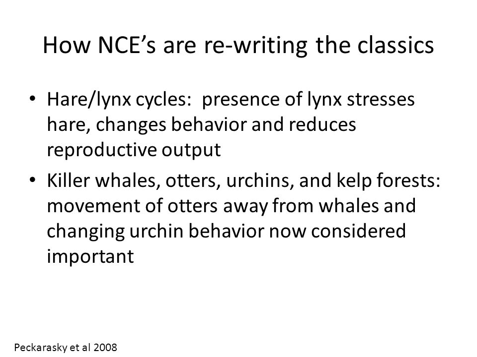 How NCE's are re-writing the classics