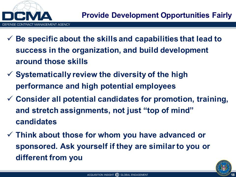 Provide Development Opportunities Fairly