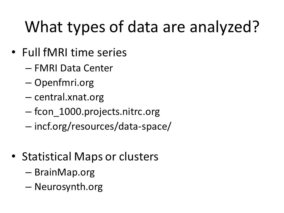 What types of data are analyzed