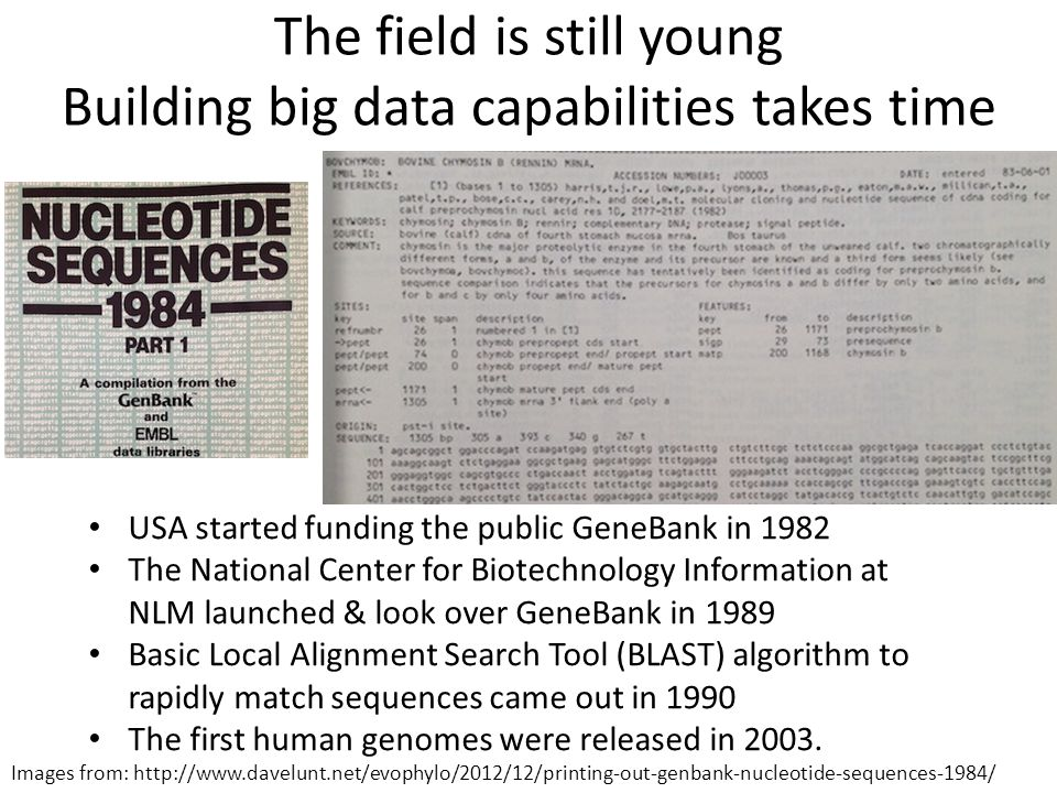 The field is still young Building big data capabilities takes time