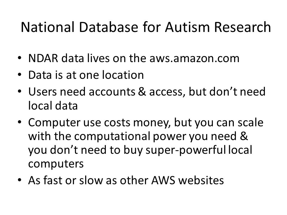 National Database for Autism Research
