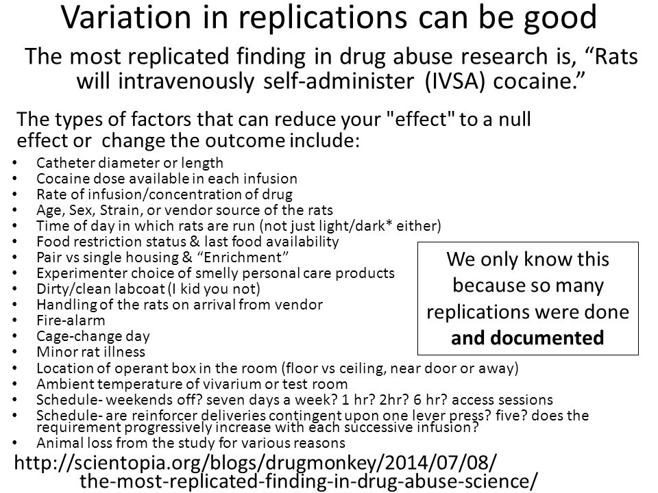 Variation in replications can be good