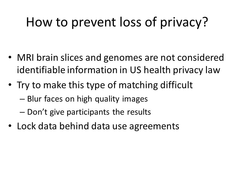 How to prevent loss of privacy