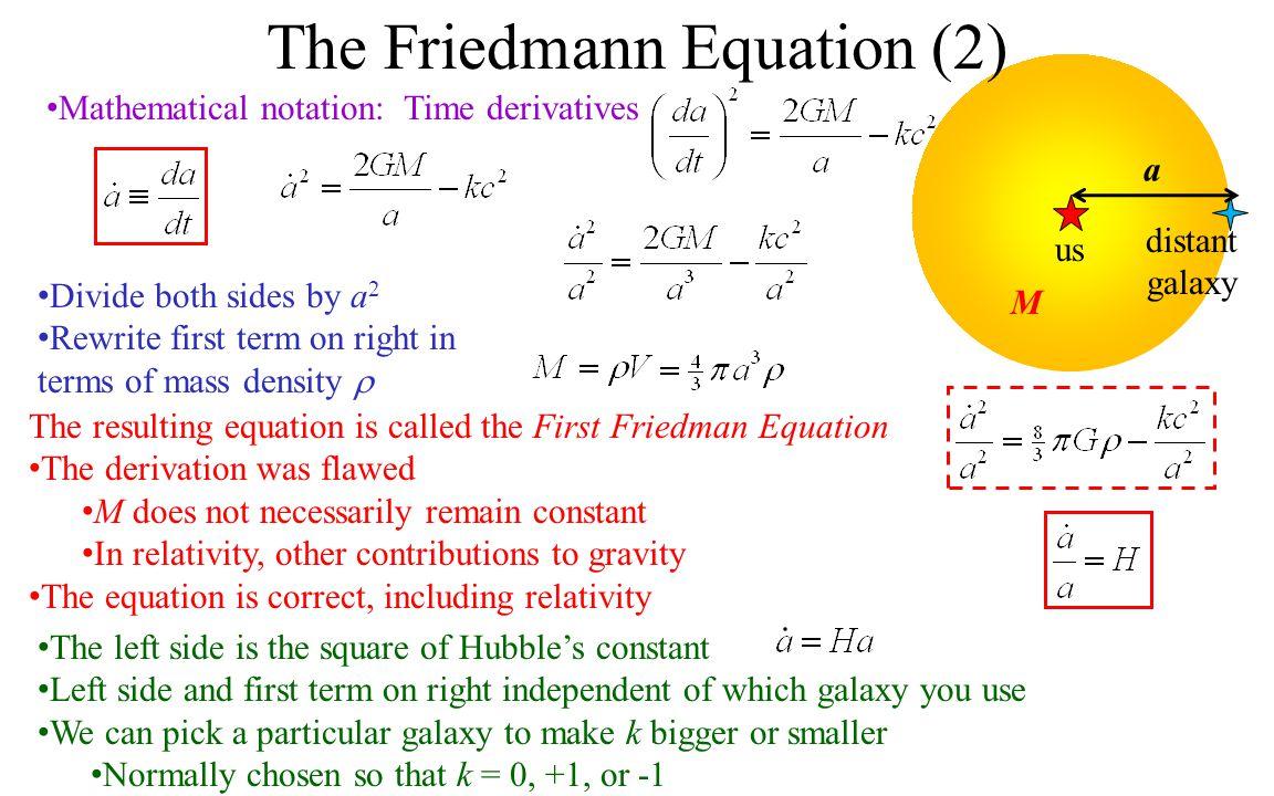 The Friedmann Equation (2)