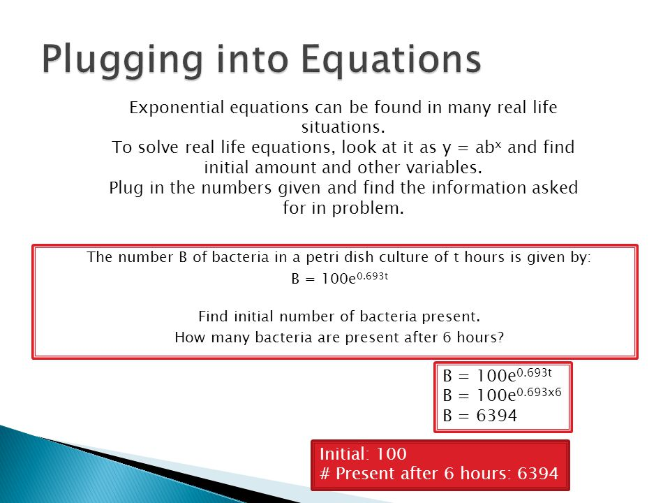 Plugging into Equations