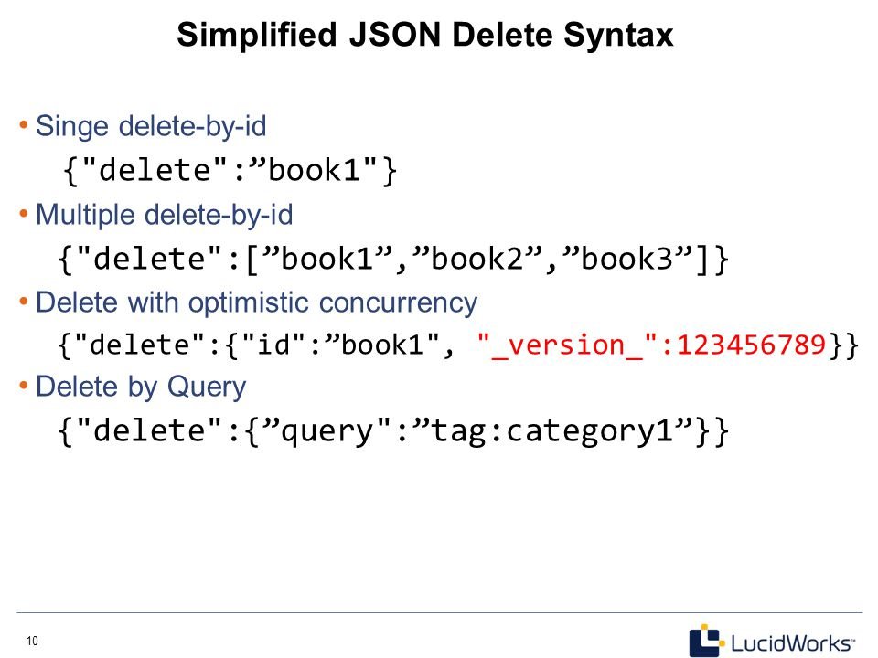 Simplified JSON Delete Syntax