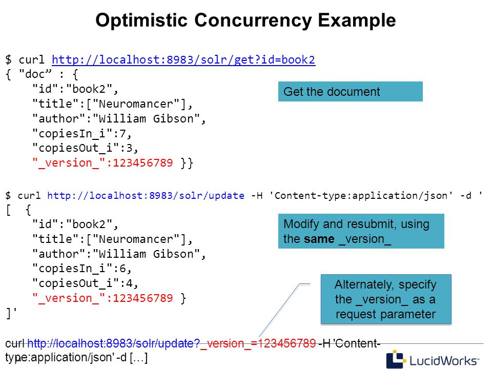 Optimistic Concurrency Example