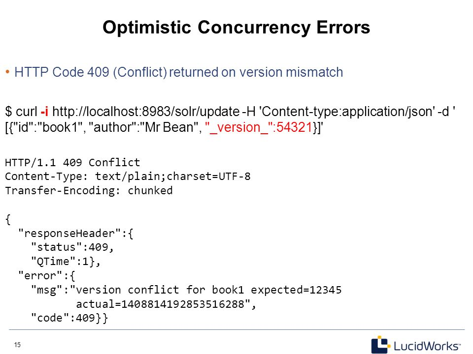 Optimistic Concurrency Errors