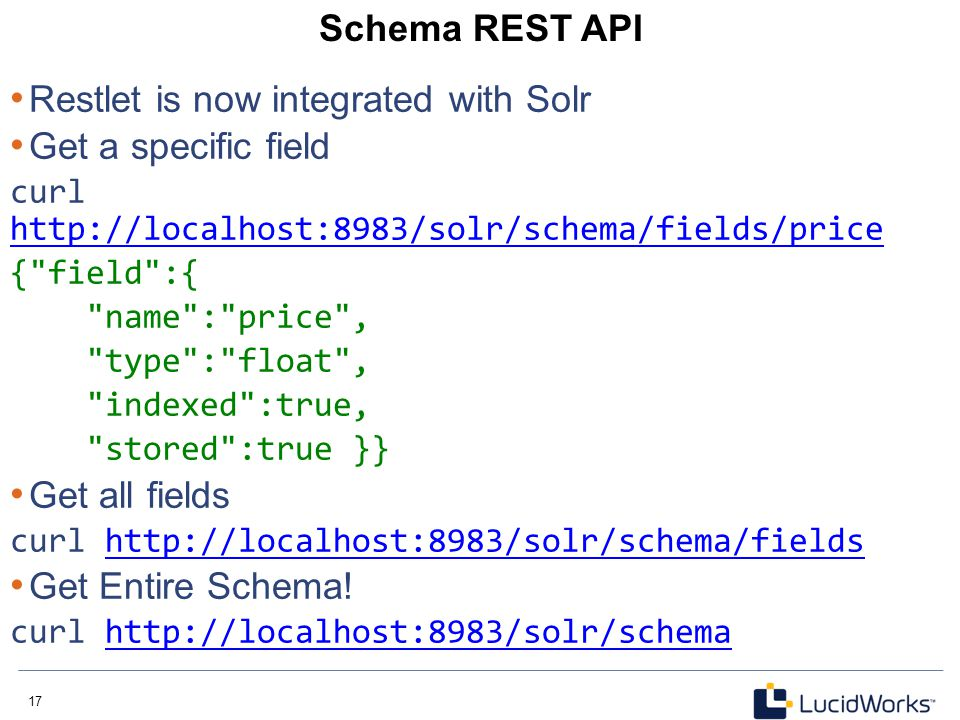 Restlet is now integrated with Solr Get a specific field