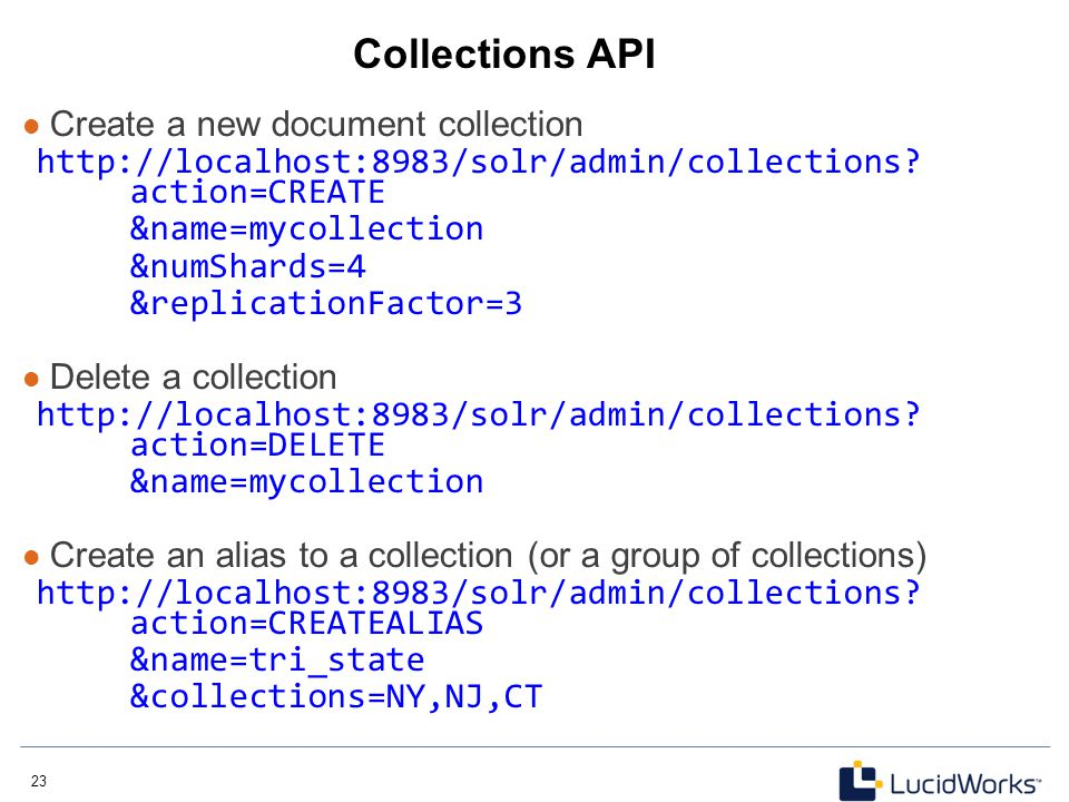 Collections API Create a new document collection
