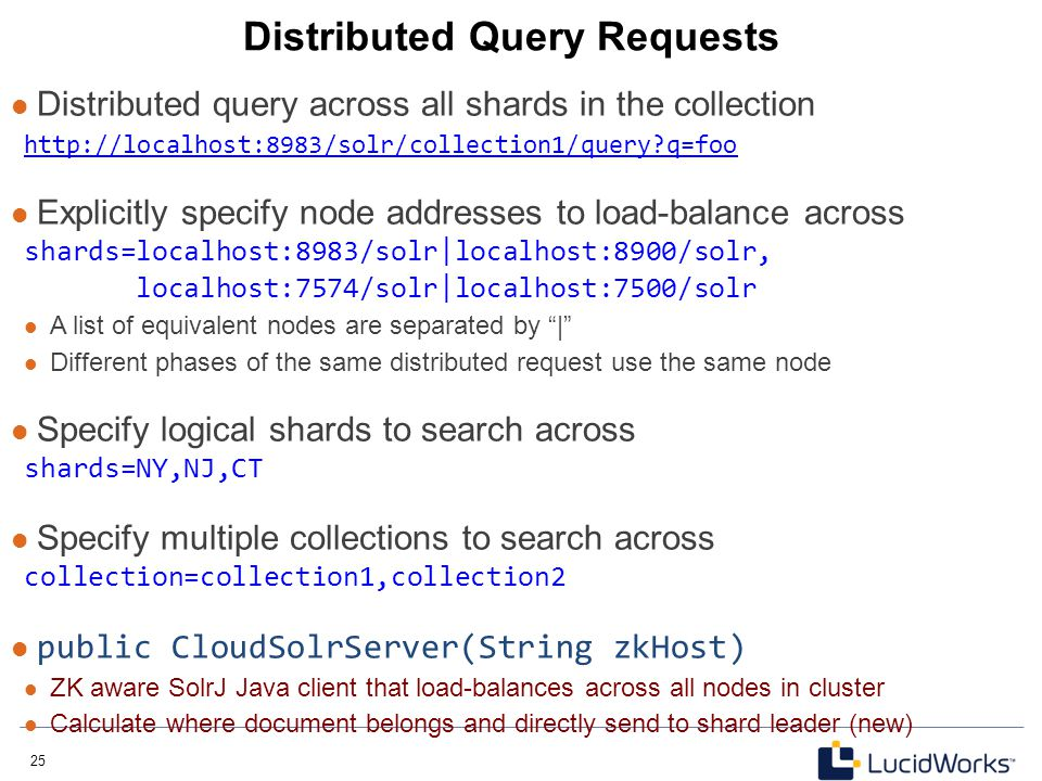 Distributed Query Requests
