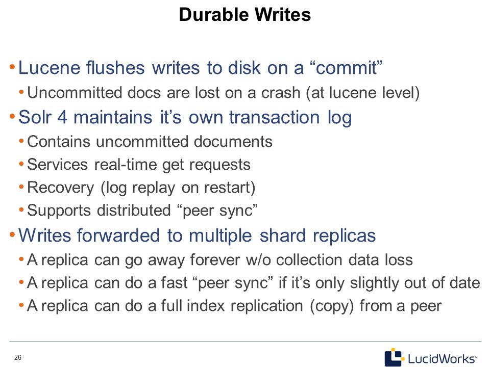 Lucene flushes writes to disk on a commit
