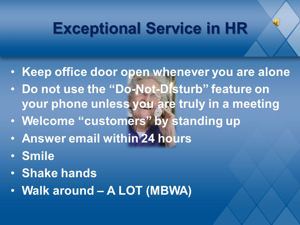 Exceptional Service in HR