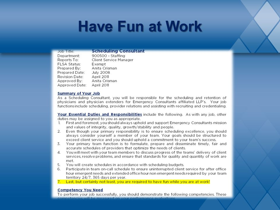 Have Fun at Work