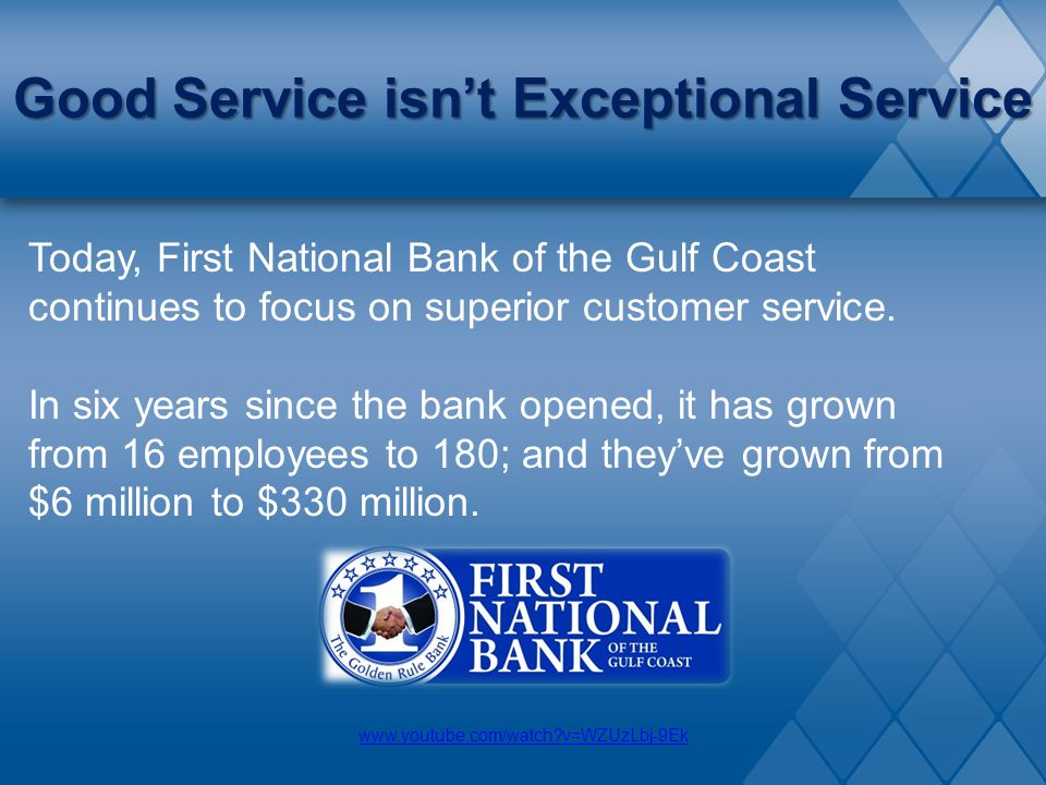 Good Service isn't Exceptional Service