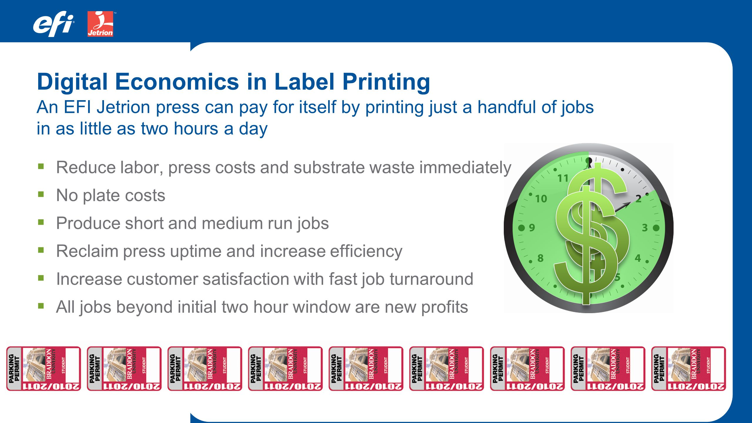 $ $ $ Digital Economics in Label Printing