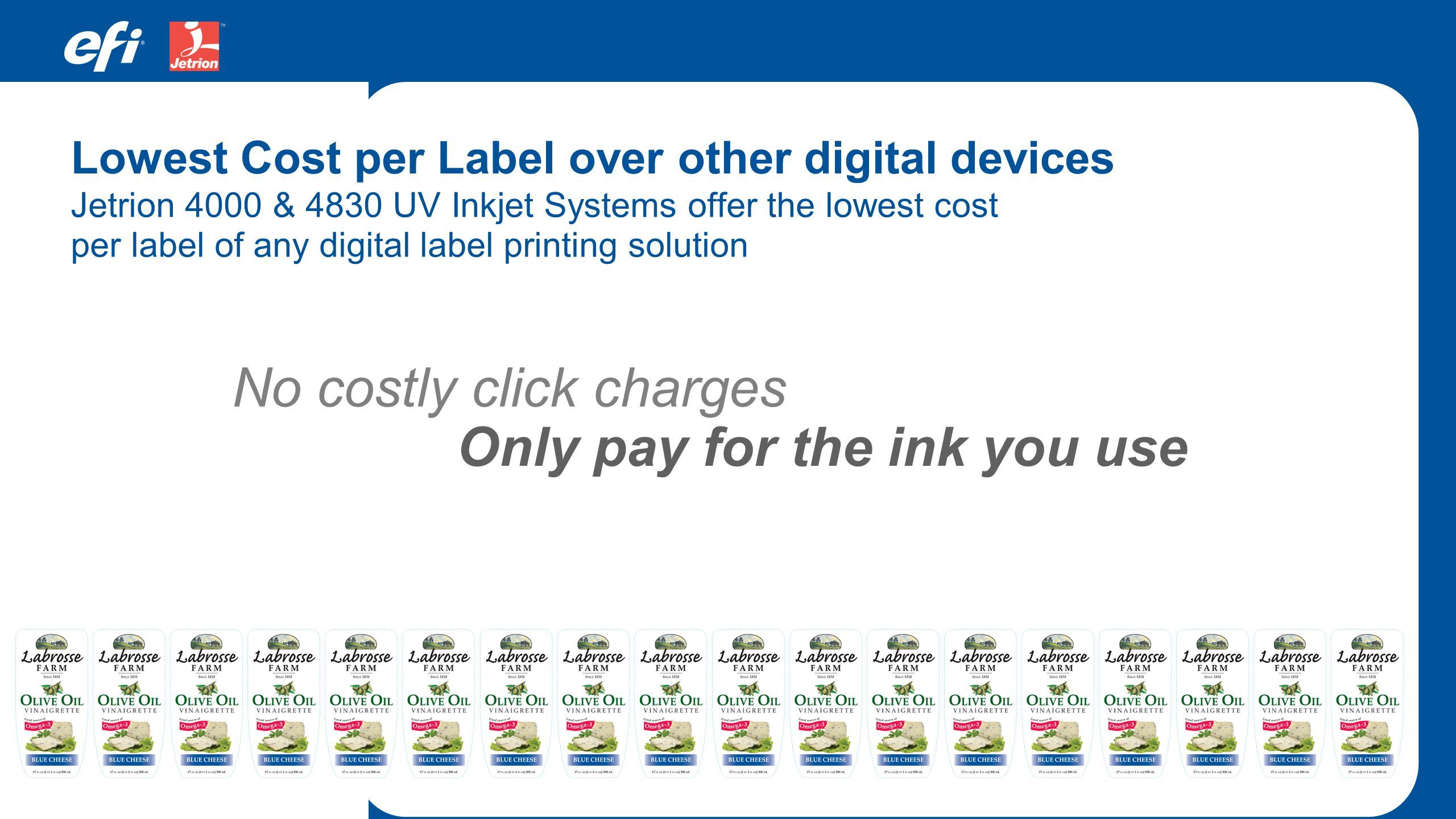 Only pay for the ink you use