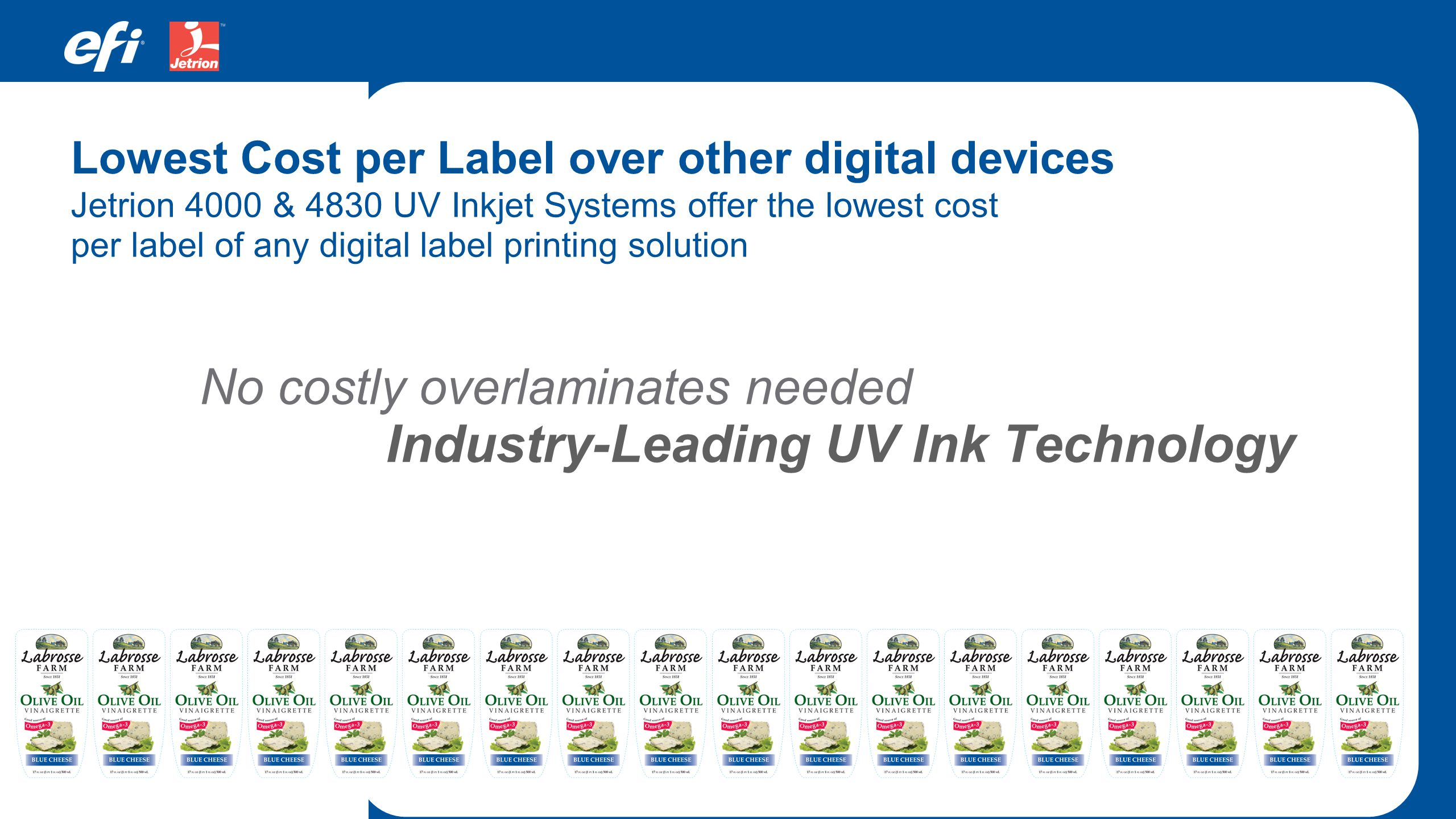 Industry-Leading UV Ink Technology
