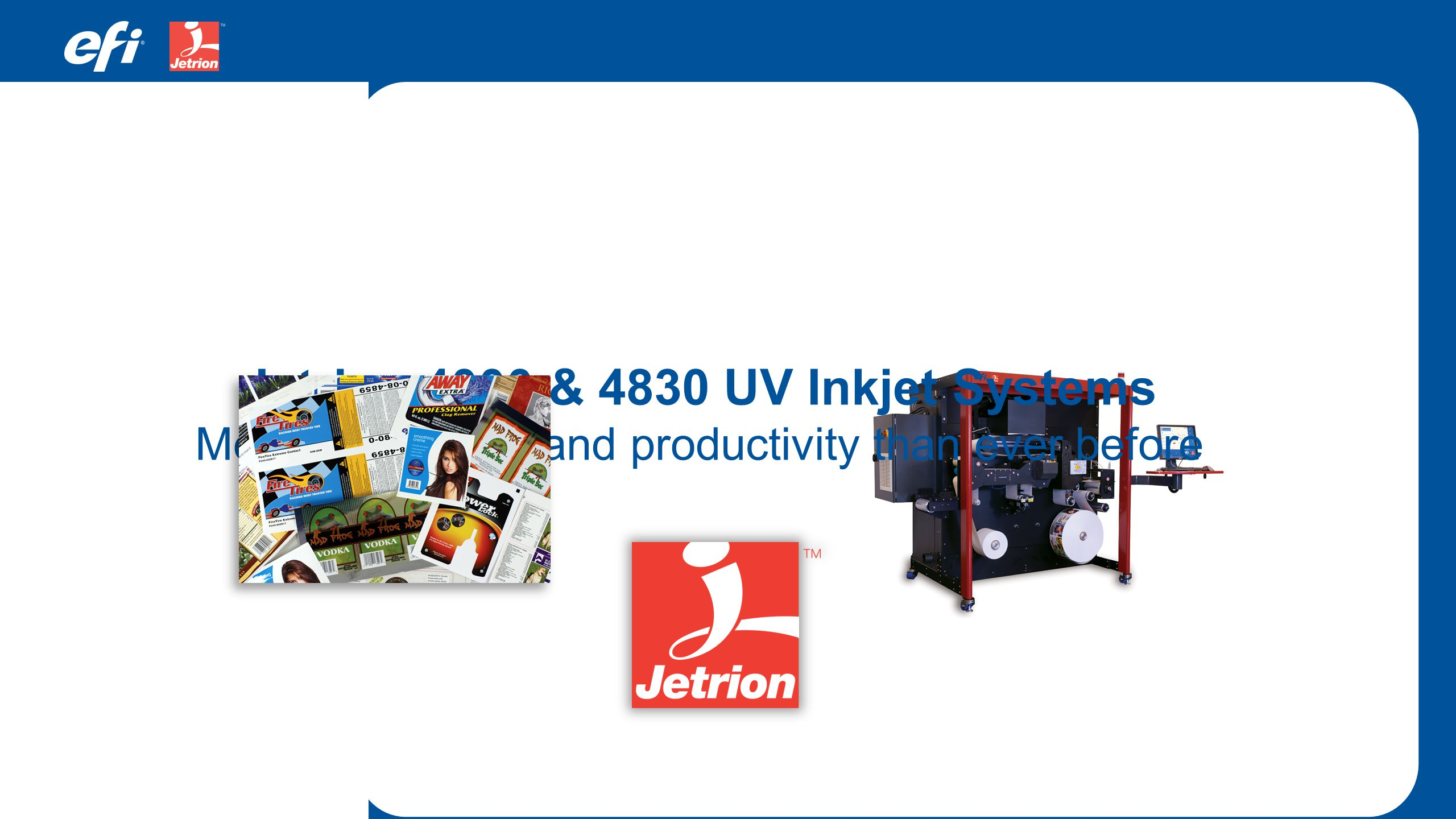 Jetrion 4000 & 4830 UV Inkjet Systems