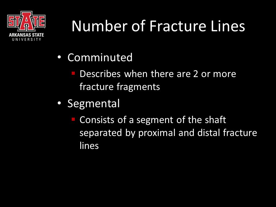 Number of Fracture Lines