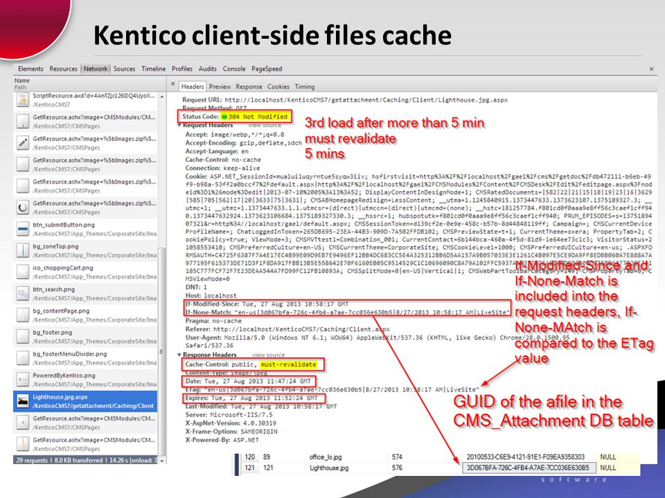 Kentico client-side files cache