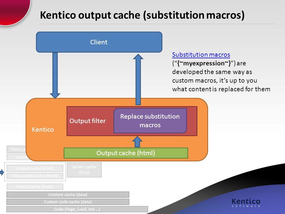 Kentico output cache (substitution macros)