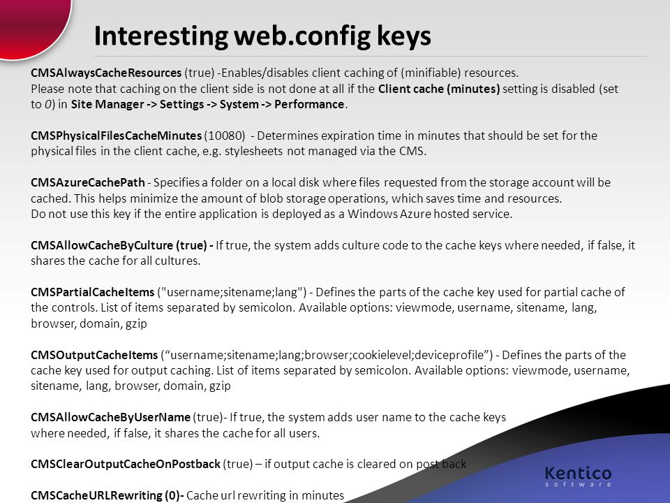 Interesting web.config keys