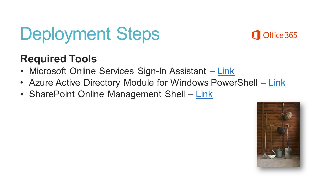 Deployment Steps Required Tools