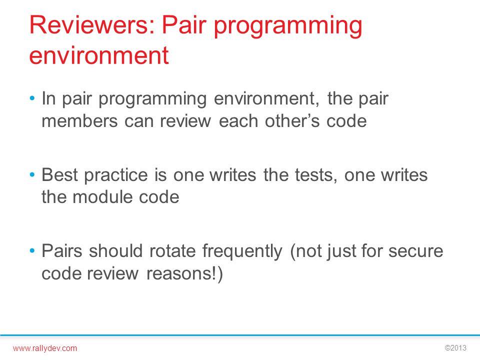 Reviewers: Pair programming environment
