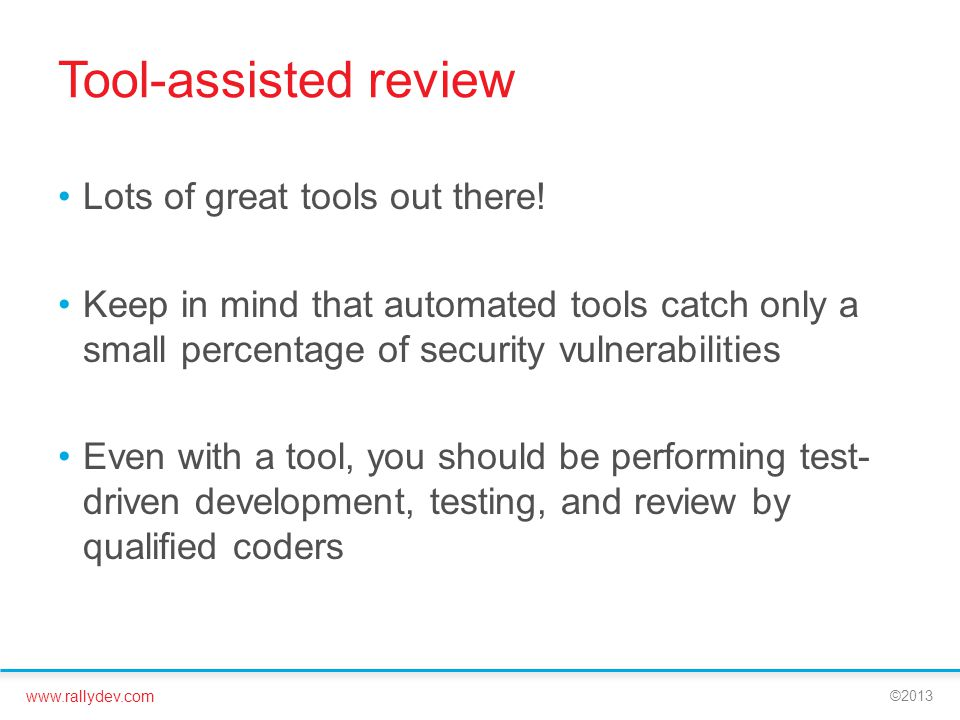 Tool-assisted review Lots of great tools out there!