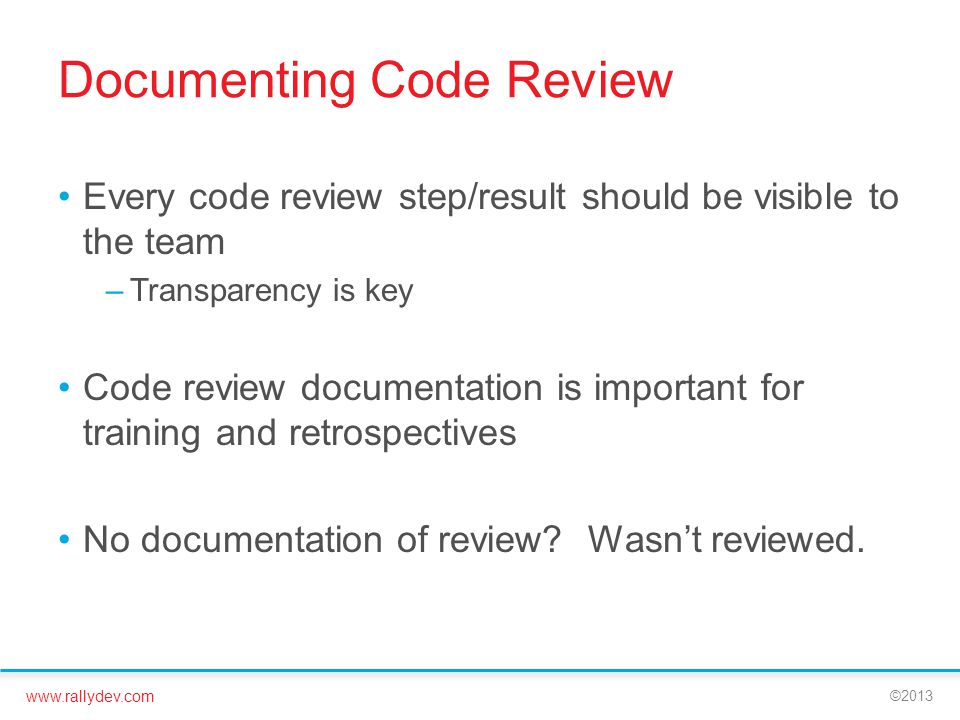 Documenting Code Review