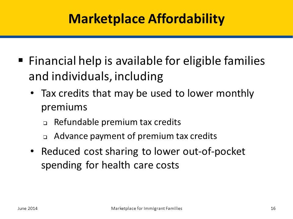 Marketplace Affordability