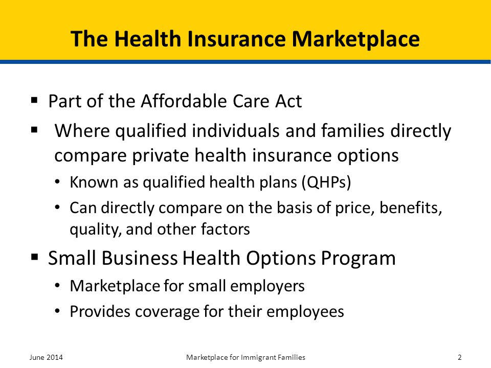 The Health Insurance Marketplace