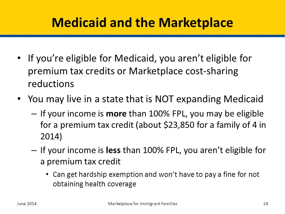 Medicaid and the Marketplace