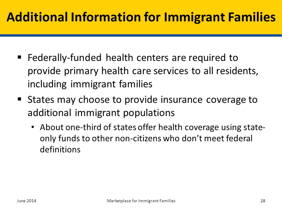 Additional Information for Immigrant Families