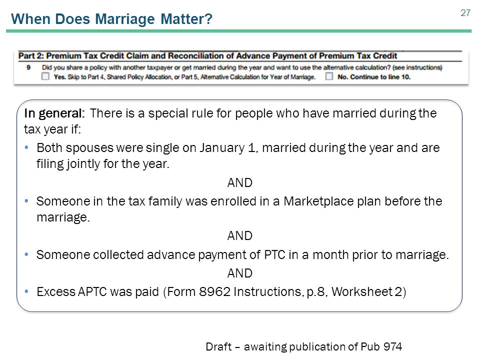 When Does Marriage Matter