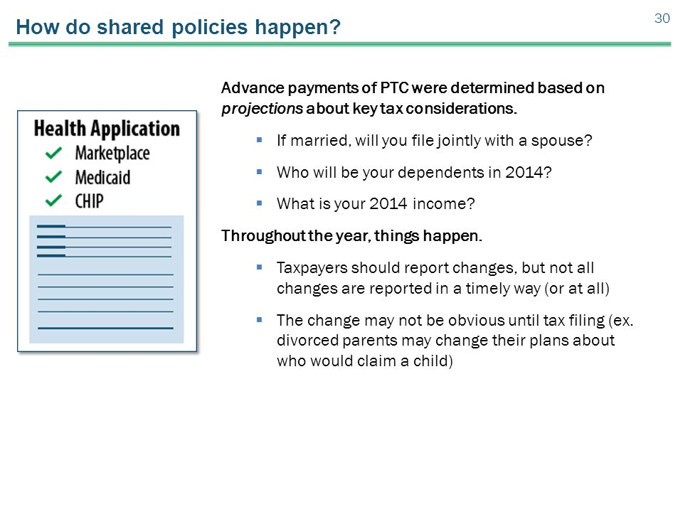 How do shared policies happen