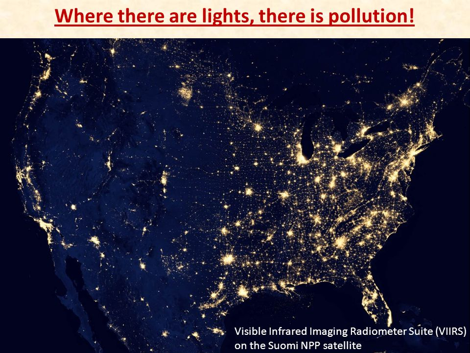 Where there are lights, there is pollution!