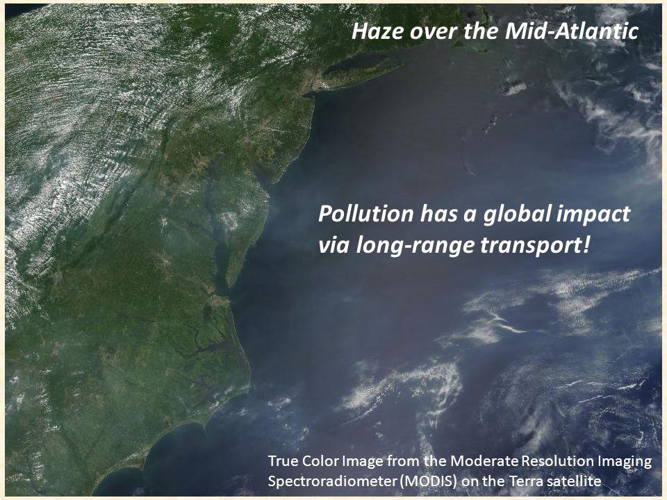 Haze over the Mid-Atlantic