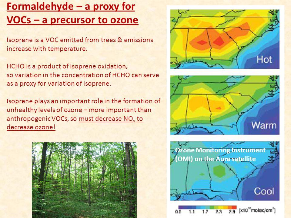 Formaldehyde – a proxy for VOCs – a precursor to ozone