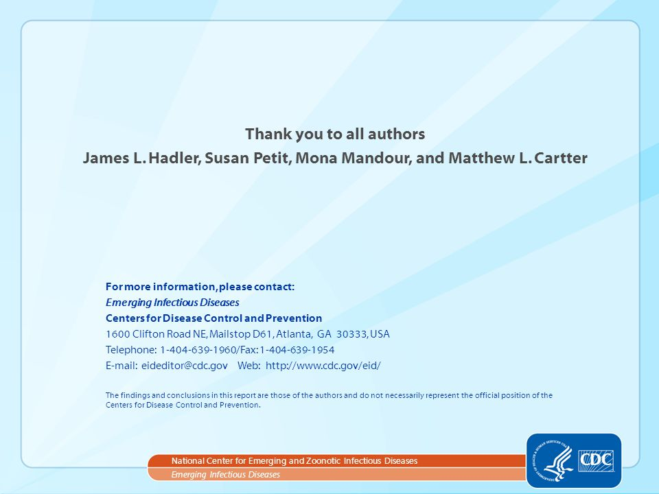 Thank you to all authors
