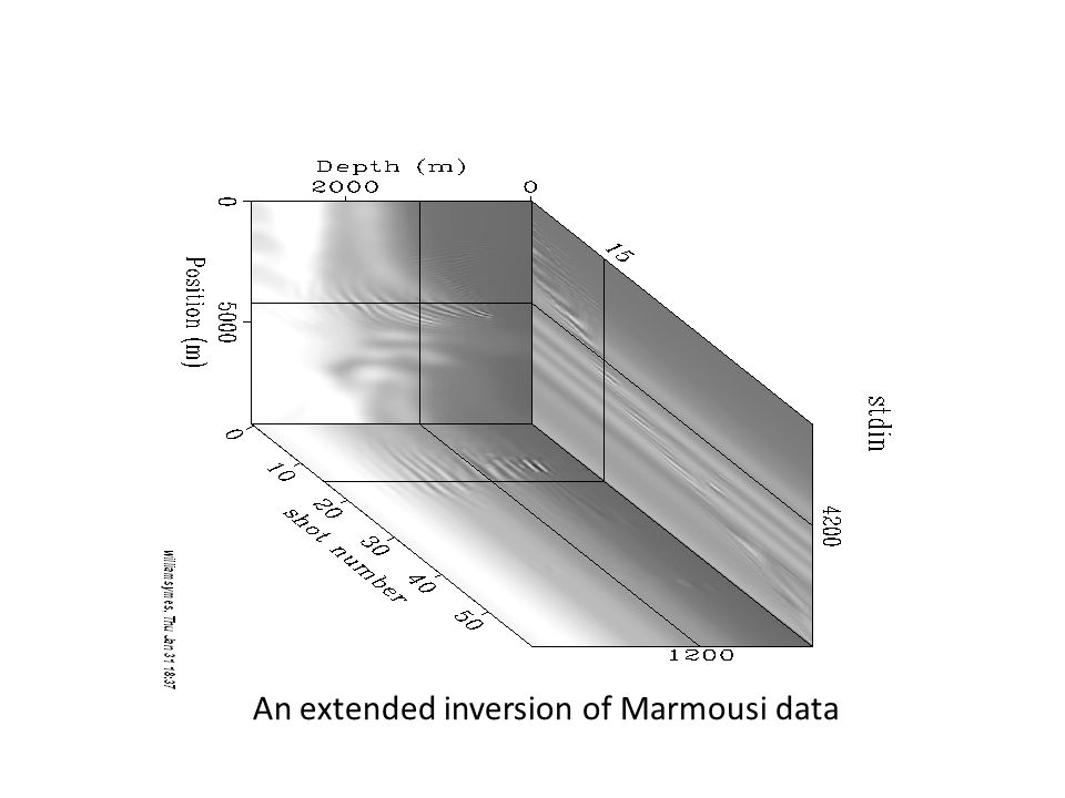An extended inversion of Marmousi data