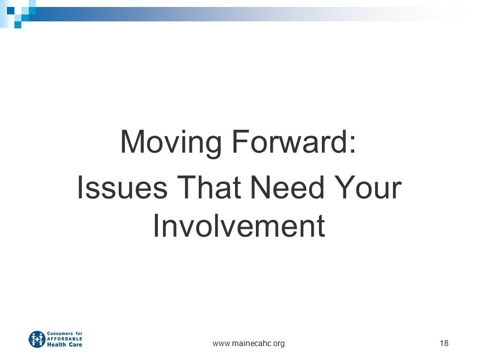 Issues That Need Your Involvement