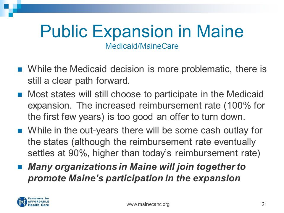 Public Expansion in Maine Medicaid/MaineCare