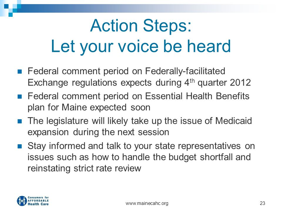 Action Steps: Let your voice be heard