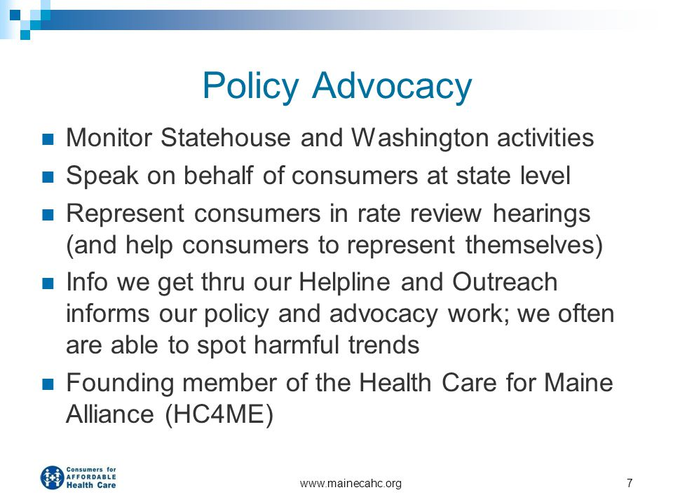 Policy Advocacy Monitor Statehouse and Washington activities